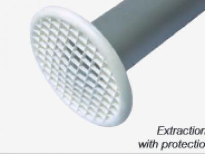 Odsávací hubice s integrovanou ochrannou mřížkou TBH